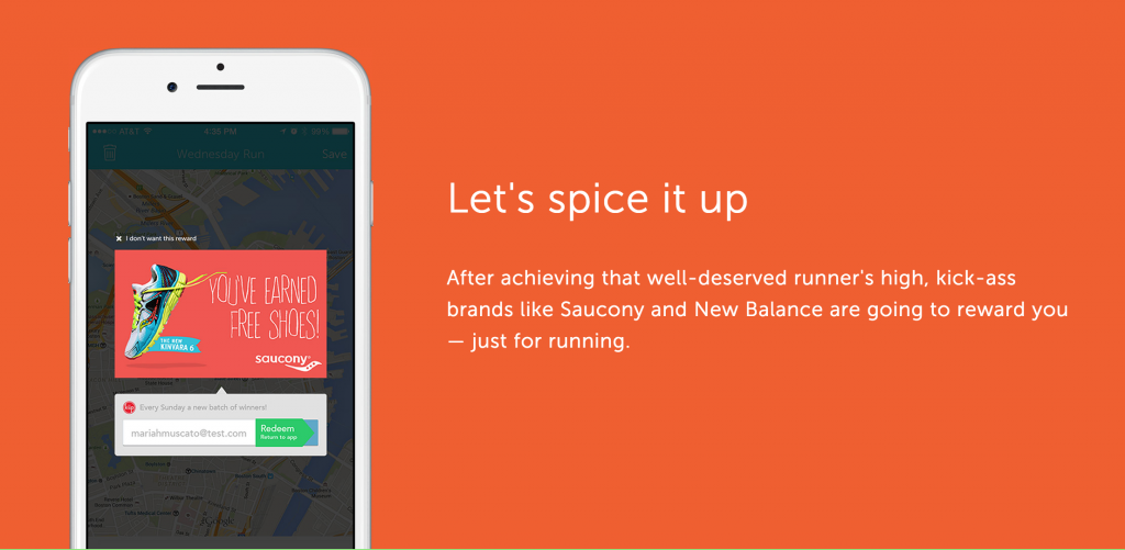 RunKeeper allows you to unlock promotions for new running shoes.