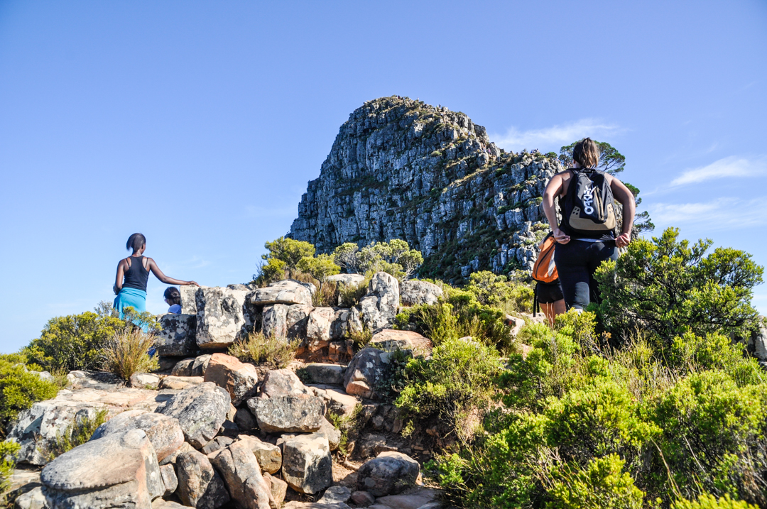 The peak of Lion's Head provides a 360º view of Cape Town.